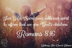 Image may contain: one or more people and outdoor, text that says 'For His Spirit joins with our spirit to affirm that we are God's children. Romans 8:16 Bethany Sda Church Almere'