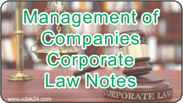Management of Companies Corporate Law Notes