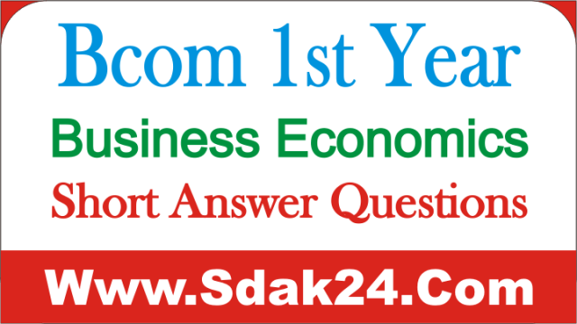 Bcom 1st Year Business Economics Short Answer Questions