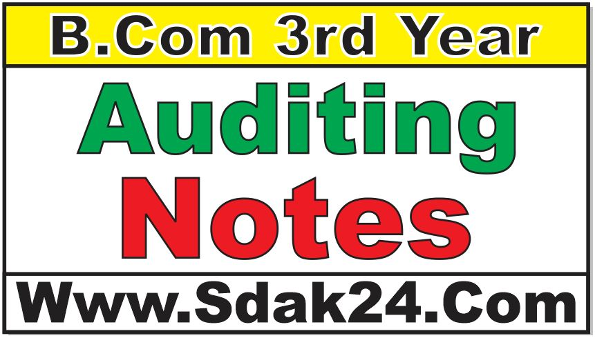 Bcom Auditing Notes Question Paper
