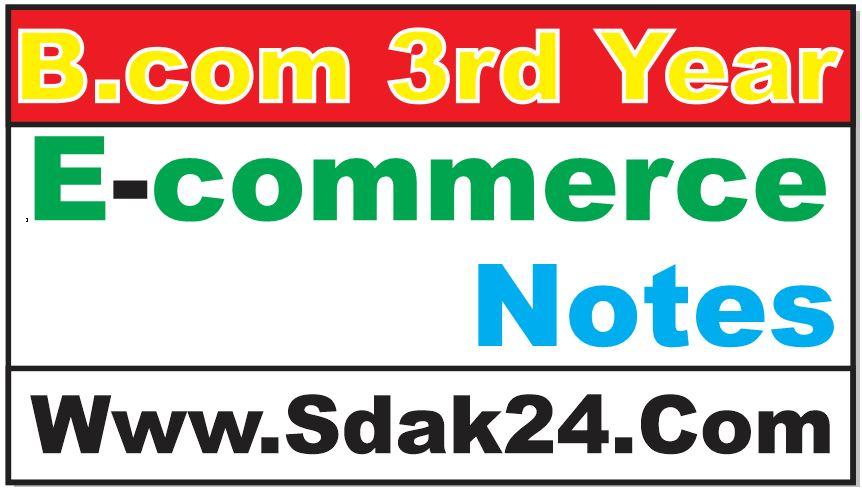 Bcom Ecommerce Notes