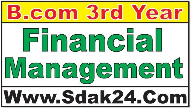 Bcom Financial Management Notes