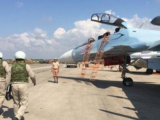 طائرات روسية في قاعدة حميميم