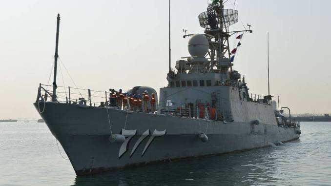 السفن السعودية المشاركة في تمرين جسر 17
