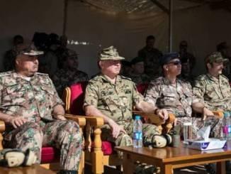 الملك الأردني يشهد تمرين عسكري مشترك مع ألمانيا