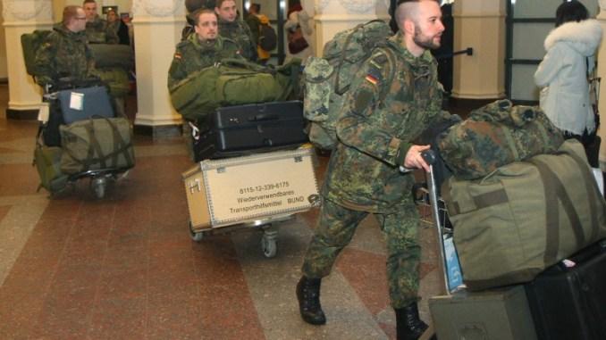 وصول الجنود الألمان إلى ليتوانيا