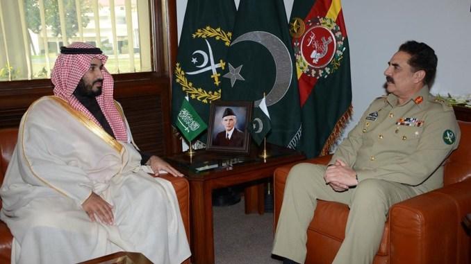 الجنرال راحيل شريف والأمير محمد بن سلمان