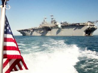 أسطول بحري أمريكي في مياه الخليج العربي