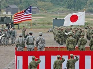 القوات اليابانية والأميركية