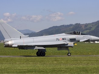 مقاتلة يوروفايتر تابعة لسلاح الجو النمساوي