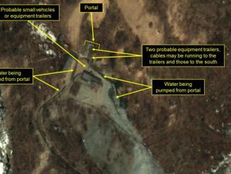 صورة بالأقمار الصناعية لأنشطة بموقع نووي بكوريا الشمالية (سكاي نيوز)