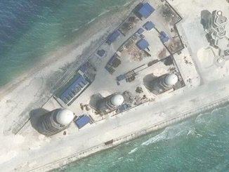 لقطة من الجزر الإصطناعية الصينية