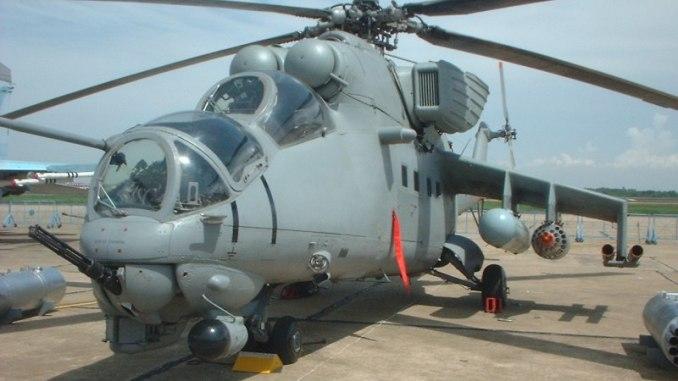 مروحية Mi-25 الأفغانية