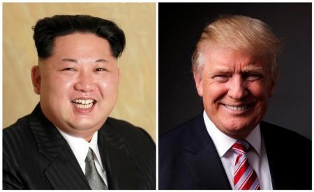 الرئيسان الأميركي والكوري الشمالي