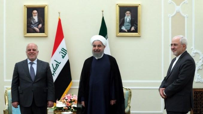 الرئيس حسن روحاني ورئيس الوزراء العراقي حيدر العبادي