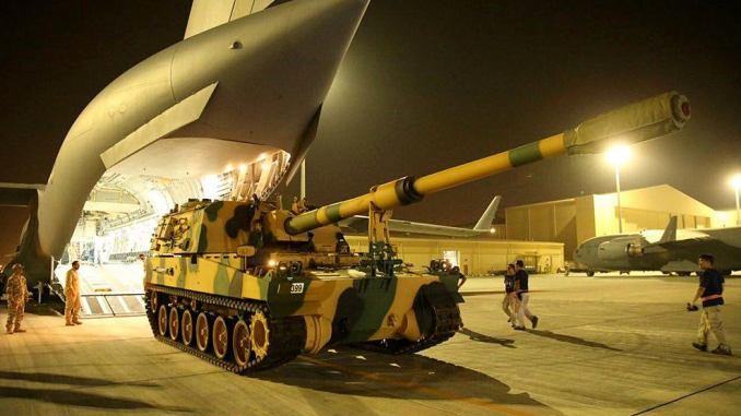 وصول الدفعة السادسة من القوات التركية إلى قطر (الأناضول)