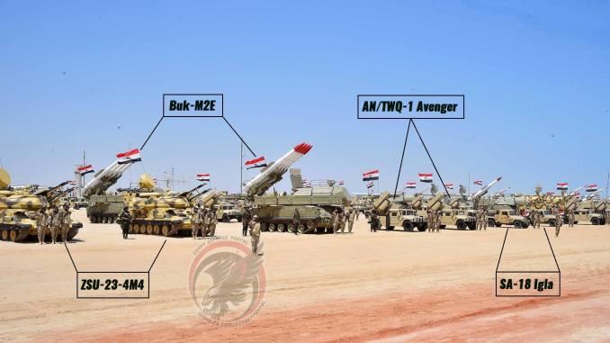 لقطة للمنظومات التابعة لوحدات الدفاع الجوي المصري