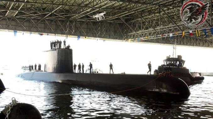 استلام الغواصة المصرية الثانية
