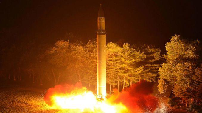 عملية إطلاق صاروخ كوري شمالي