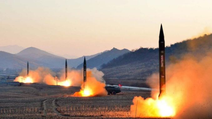 عملية إطلاق صواريخ كورية شمالية