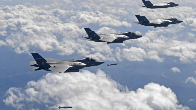 مقاتلات F-35B الأميركية فوق سبه الجزيرة الكورية (AFP)