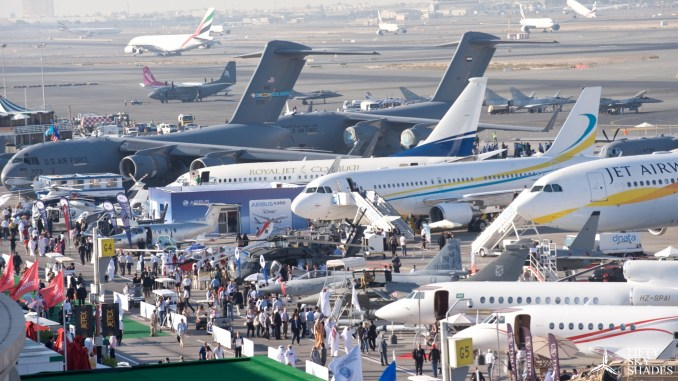 لقطة من معرض دبي للطيران السابق