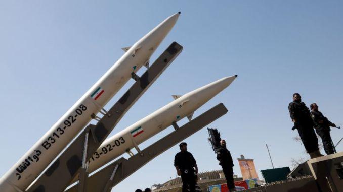 بعض الصواريخ إيرانية الصنع