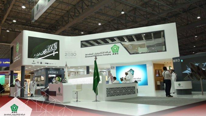 منصة عرض شركة الإلكترونيات المتقدمة في معرض دبي للطيران