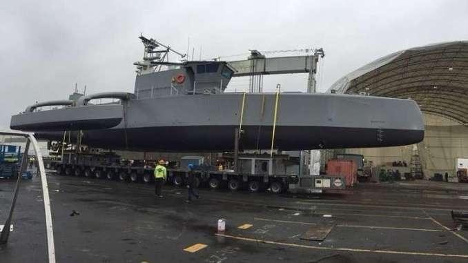 """سفينة """"صياد البحر الأميركية الذاتية القيادة"""