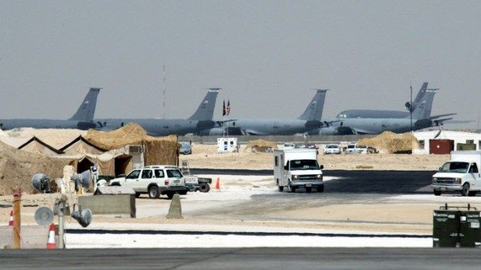 صورة عامة اتُخذت في 23 تشرين الأول/أكتوبر 2002 لقاعدة العديد الجوية العسكرية الأميركية، على بعد 35 كيلومترا جنوب الدوحة (AFP)