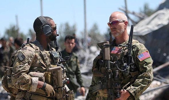 عناصر من القوات المسلحة الأميركية في سوريا