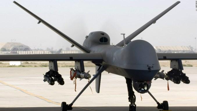 طائرة بدون طيار MQ-9 Reaper في قاعدة بلد في العراق في تشرين الثاني/ نوفمبر 2008 .