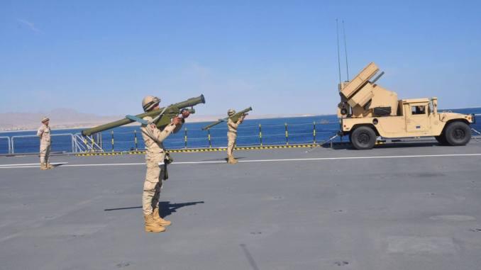 إنطلاق التدريب البحري المشترك كليوباترا 2018من على متن حاملة الطائرات المصرية في 20 شباط/ فبراير