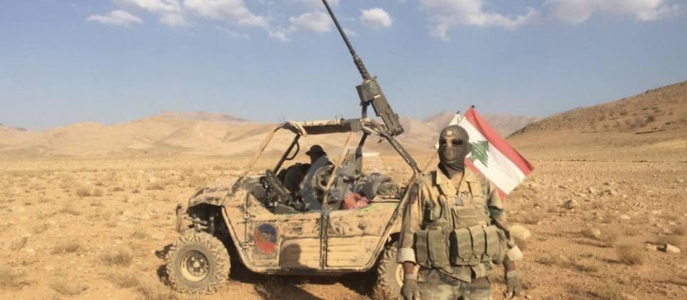 """لقطة لعناصر من الجيش اللبناني خلال عملية """"فجر الجرود"""" في آب/أغسطس الماضي"""