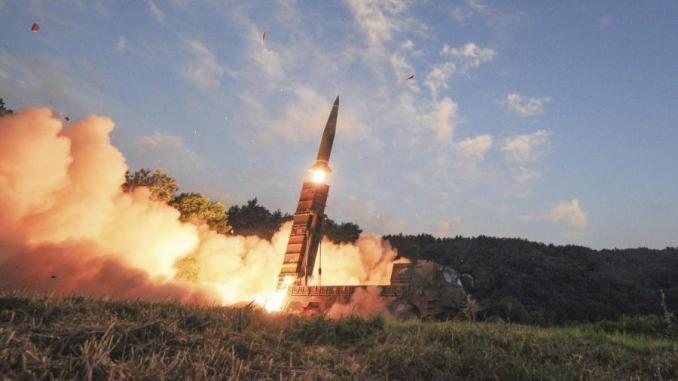 عملية إطلاق كوريا الجنوبية لصاروخ في هجوم على كوريا الشمالية في أعقاب تجربة بيونغ يانغ المزعومة (AP)