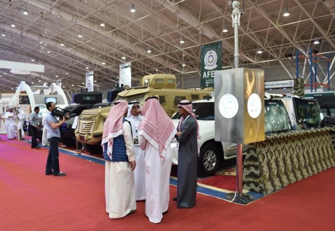 """لقطة من معرض القوات المسلحة لدعم التصنيع المحلي """"أفد 2016"""" خلال فعالياته في شباط/فبراير الماضي في المملكة العربية السعودية (الشرق الأوسط)"""