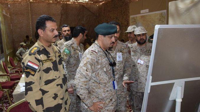 """انطلاق تمرين مركز القيادة ضمن تمرين """"درع الخليج المشترك 1"""" في 28 آذار/ مارس 2018 في السعودية (واس)"""