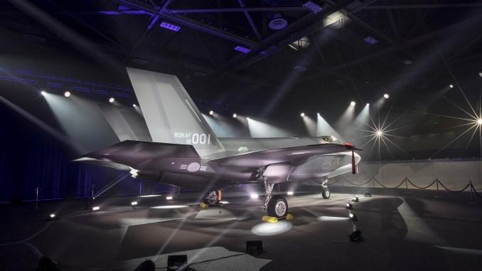 """لقطة من حفل تدشين أول مقاتلة """"أف-35أيه"""" تابعة للقوات الجوية الكورية الجنوبية في فورت وورث، تكساس، يوم 28 آذار/مارس 2018 (شركة لوكهيد مارتن)"""
