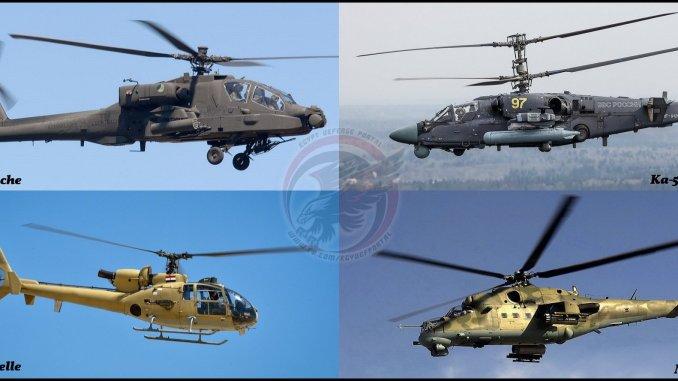 أنواع المروحيات القتالية الأربعة التي تمتلكها القوات الجوية المصرية (بوابة الدفاع المصرية)