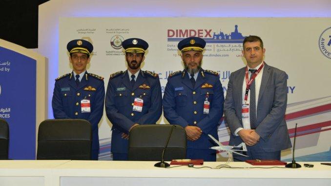 """توقيع الإتفاقية بين قطر وشركة """"بيكار"""" التركية في 14 آذار/ مارس على هامش معرض ديمدكس 2018"""