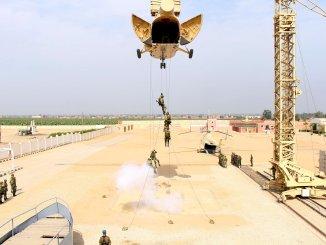"""لقطة من التدريب المشترك """"حماة الصداقة 3"""" المصري-الروسي (المتحدث الرسمي للقوات المسلحة المصرية)"""