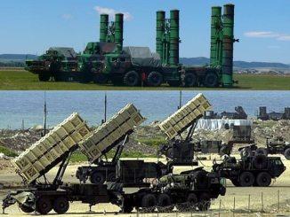لقطة لنظامي أس-300 الروسي وباتريوت الأميركي