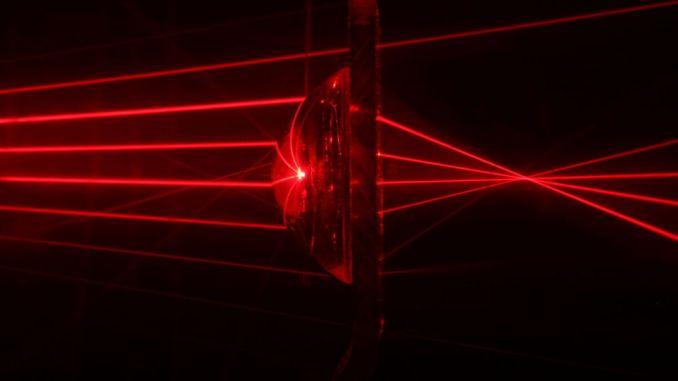 أشعة ليزر