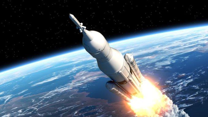 رسم لإطلاق صاروخ فضائي