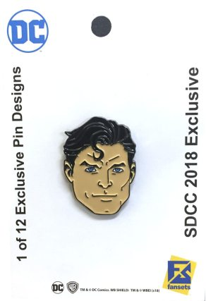 SDCC Exclusive Warner Brothers DC Comics Superman Pin
