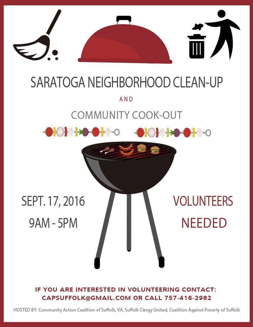 Saratoga Neighborhood Clean-up ( text from picture is in post below)