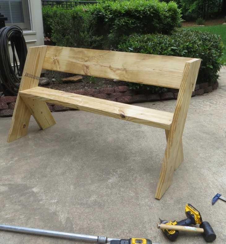тройничного как самому построить скамейку фото фотографии много