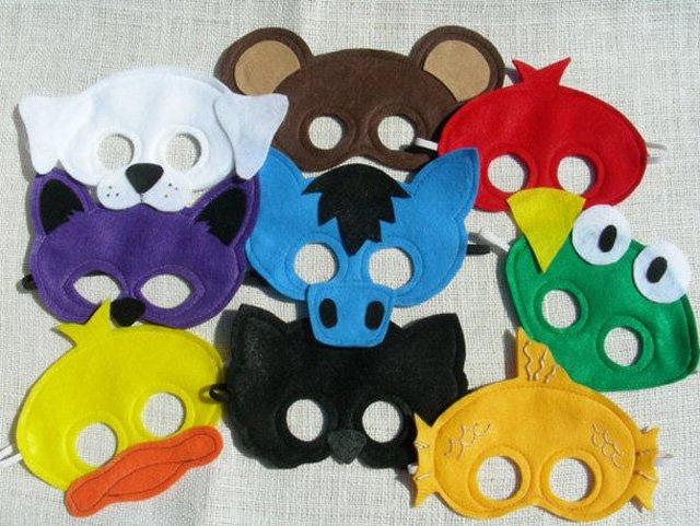 1480549240_maski-iz-fetra Маска медведя как сделать. Маска медведя и мыши своими руками: выкройки