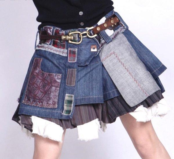 Юбка из джинсов своими руками мастер класс с фото и