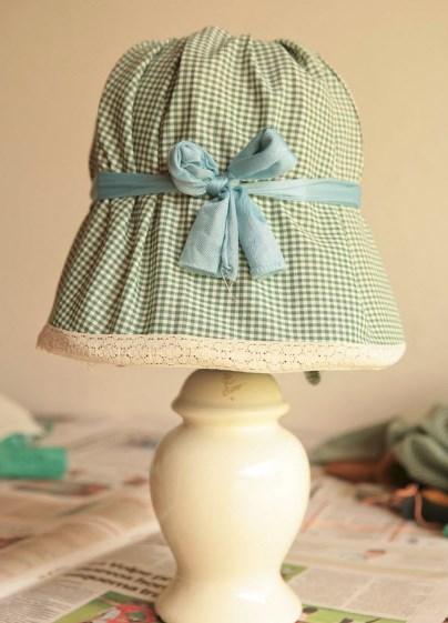 Чехол для светильника из рубашки
